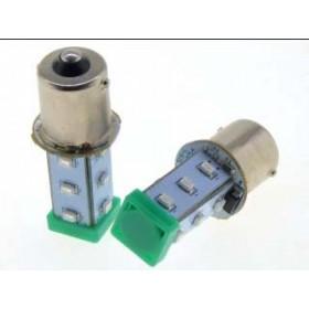 BA15S LED指示燈泡(AC/DC24V) 10W 綠色 O50mm S15-L57G