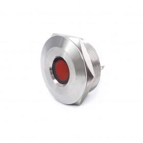 S30441-24R 30mm不鏽鋼金屬凹面指示燈(焊線式)-DC24V 紅光