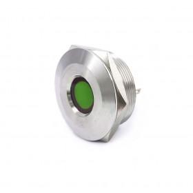 S30441-24G 30mm不鏽鋼金屬凹面指示燈(焊線式)-DC24V 綠光