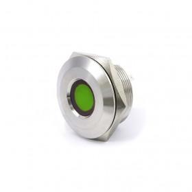28mm不鏽鋼金屬凹面指示燈(焊線式)-DC24V 綠光