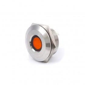 28mm不鏽鋼金屬凹面指示燈(焊線式)-DC24V 橙光