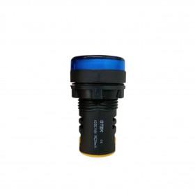 110V 22mm GTEK 平頭指示燈 藍色