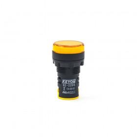 KE-22DS 22mm LED指示燈 黃色 110~230VAC