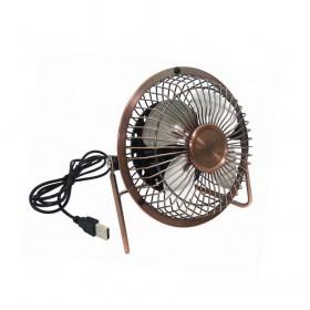 USB 4吋桌上型大風扇鐵製古銅復古大風量(KTCBUF815C)