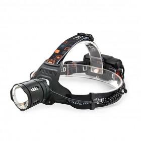 LC-220 L2 15W 伸縮強光頭燈 (含2入18650電池/旅充)