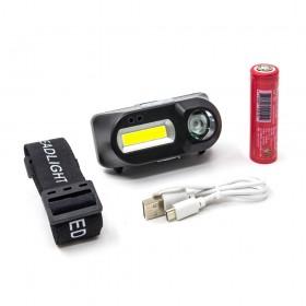 LC-111 5W USB充電感應(遠+近) 雙LED頭(含電池+USB線)