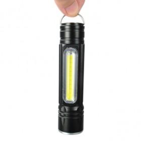 FX516 5段式 USB充電 LED手電筒 吸磁式