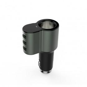 LDNIO 點菸頭帶三孔USB多功能智能充電器5.1A(DC12~24V)