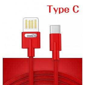 HANG R36 Type C 雙面插快充線-紅