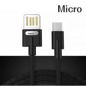 HANG R36 Micro 雙面插快充線-黑