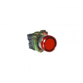 22ψ平頭照光按鈕-紅色 AC110V 2A2B