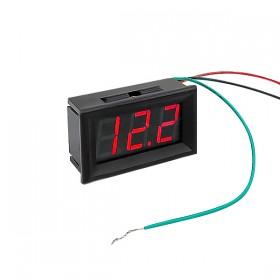 0.56三位LED電壓/電流表頭DC0~100V(黑殼紅光)