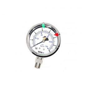 2.5'' 直立式不鏽鋼壓力錶頭 1/4PT 7K/P-不充油