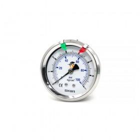 2.5'' 90度不鏽鋼壓力錶頭 1/4PT 7K/P-不充油
