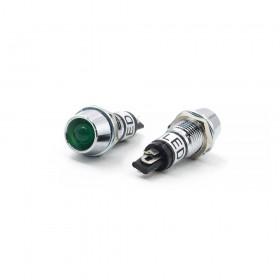 110V 綠色 LED指示燈(大) 牙8mm