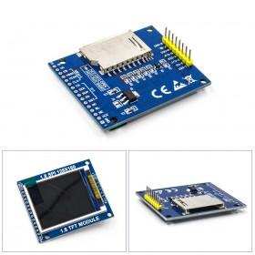 1.8寸TFT模組 液晶顯示模組 帶PCB底板 SPI串口 只需4個IO W220