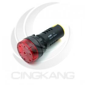 GTEK 22φ閃光蜂鳴器 DC 12V 紅