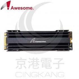 Awesome M.2 SSD NGFF 2280散熱片(黑) AWD-M2HS2280B