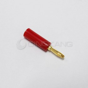 鍍金香蕉插頭-紅色(大)  適用於4mm
