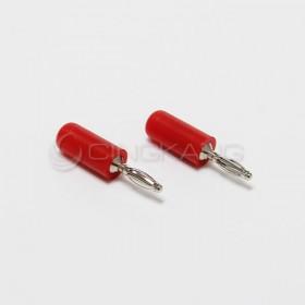 迷你香蕉插頭 2mm-紅色 (2入)