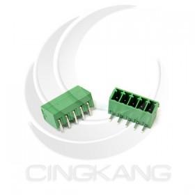 PCB 3.5-5P 端子台(公) 8A 300VAC 90度 (2入)