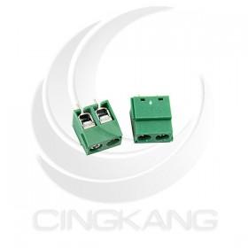 迷你型端子台-2P 10A 300VAC 腳距5.0 (2入)