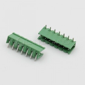 彎針接線端子2EDGK-7P/5.08MM/300V15A 公頭 (2入)