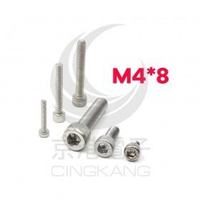 白鐵窩頭內六角螺絲 M4*8 (10pcs/包)