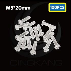 塑膠螺絲 PC PF-520 20mm M5x0.8(100PCS)