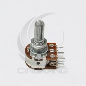 雙聯電位器 B250K 柄長20MM(六腳)