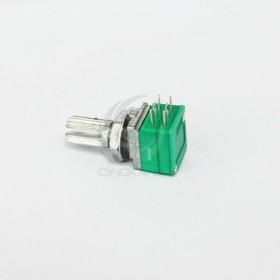 音響電位器 (雙聯-6腳) B100K 柄長15MM(含螺母)