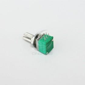 音響電位器 (雙聯-6腳) B10K 柄長15MM(含螺母)