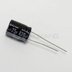 一般電容 820UF 25V 10*15 (10顆入)