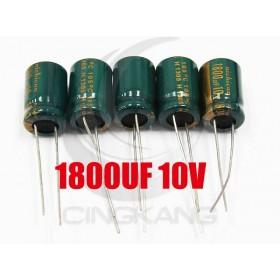 一般電容1800UF 10V 10*15 (5顆入)
