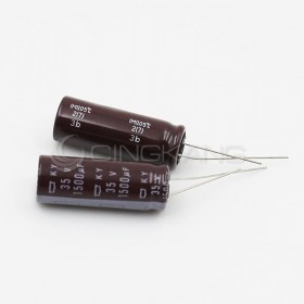 黑金剛電容 1500UF 35V KY 12.5*35 (2顆入)
