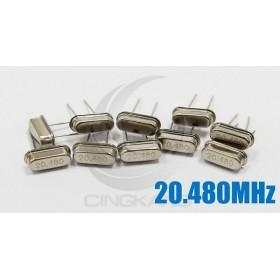 49S型無源晶振 20.480MHz(10入)