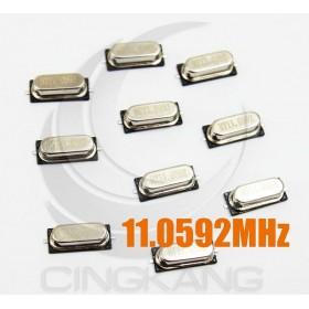 49SMD 無源晶振 貼片型 11.0592MHz(10入)