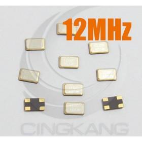 49SMD 無源晶振 貼片型 12MHz(10入)5*3.2M