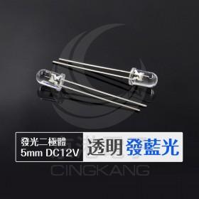 發光二極體 5mm 透明發藍色 DC12V (10PCS/包)