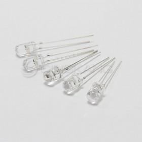 LED燈珠5mm-白色發七彩快慢交替 3V (5入)