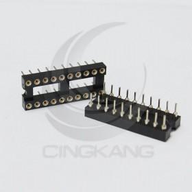 20PIN 窄形圓孔 IC座(5入)