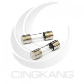 20mm 6A 250V 玻璃保險絲 鐵頭 (100PCS/盒)