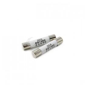 30mm 30A 250V 陶瓷保險絲管 鐵頭 (100入/盒)