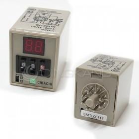 數位型多段限時繼電器AH3D-DM 12VDC(0.1~99小時)