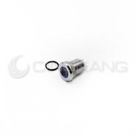 S12041-24B  12mm防水不鏽鋼金屬平面指示燈DC24V-藍色(焊線式)
