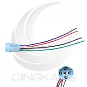 16mm金屬開關接線座(五線式) 長度約15CM
