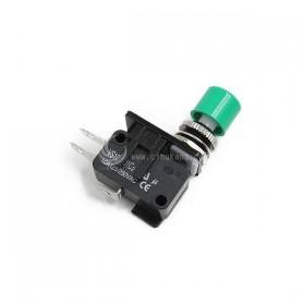 10A 微動開關含小頭塑膠按鈕-綠色