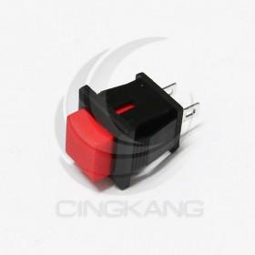 小方型按式開關(無段)ON 紅色 台製