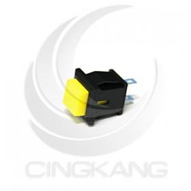 小方型按式開關(無段)ON 黃色 台製