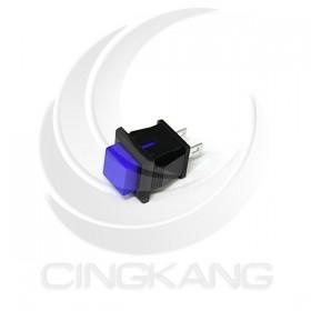小方型按式開關(無段)ON 藍色 台製
